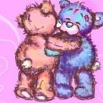 Мишки-тедди-обнимаются